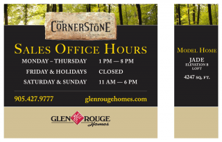 Signage for Glen Rouge Homes